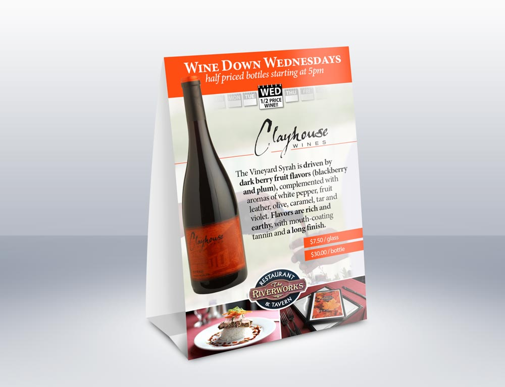 Wine table tent & Wine Table Tent | West Side Graphics