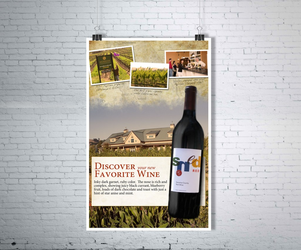 Wine Point of sale case card