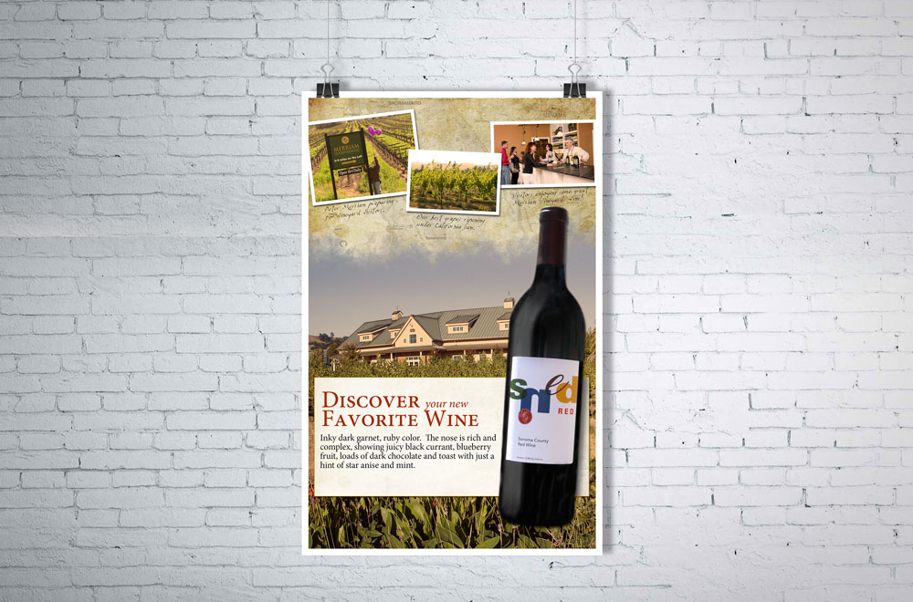 Wine  point-of-sale case card for instore display