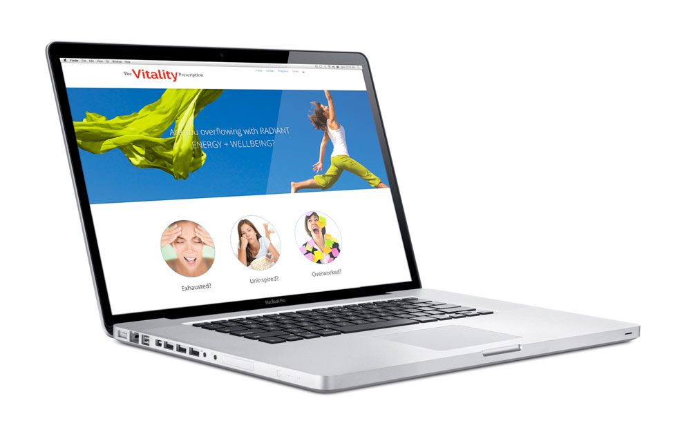 "Web Site Design and Development for ""The Vitality Prescription"""