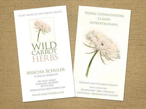 Wild Carrot Business Card