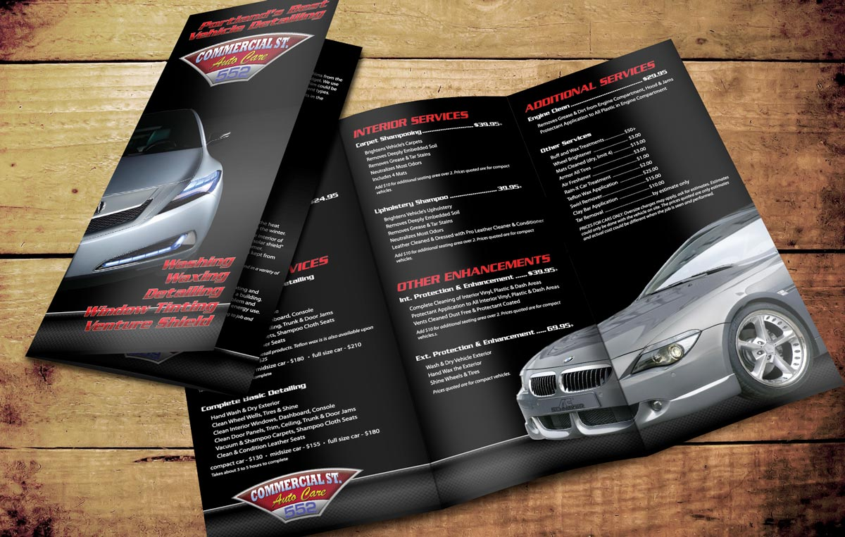 Logo, business card and brochure